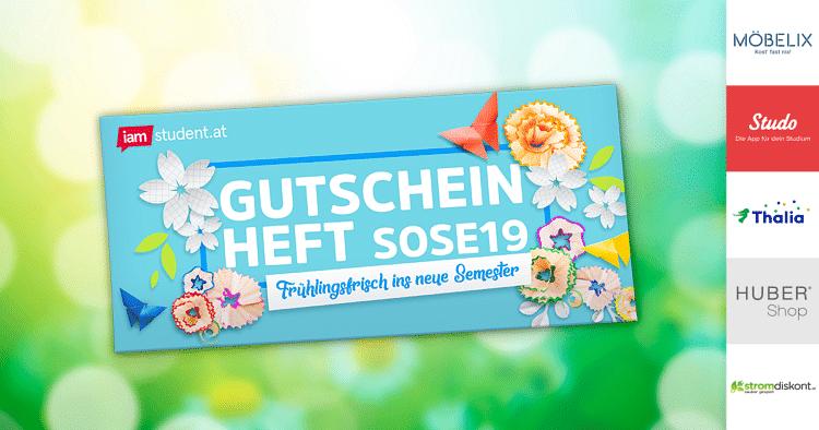Gutscheinheft SoSe19: Frühlingsfrisch ins neue Semester!