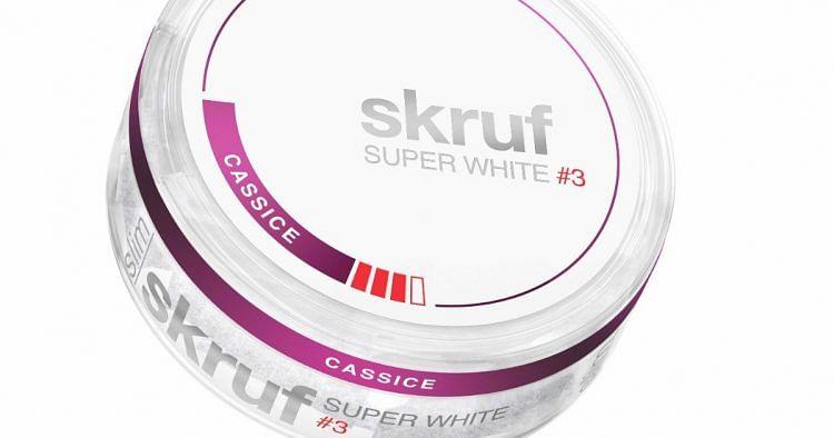skruf SUPER WHITE: Tabakfreie Nikotinbeutel als rauchfreie Alternative.